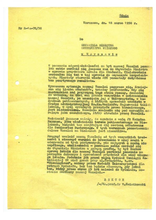 List Rektora nr 2