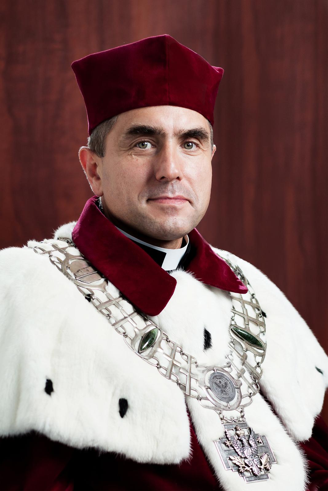 Rektor UKSW ks. prof. Stanisław Dziekoński