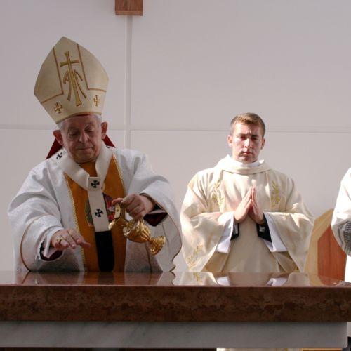 Konsekracja kaplicy akademickiej pw. św. Józefa na kampusie Wóycickiego