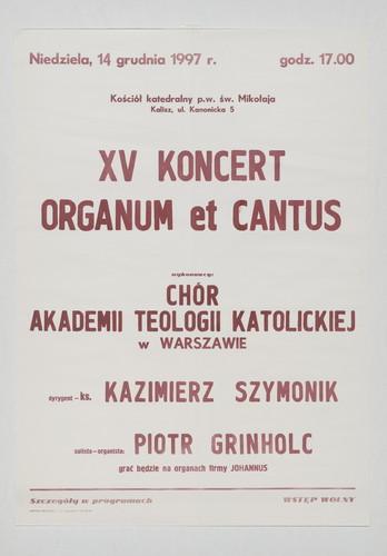 XV Koncert Organum et Cantus