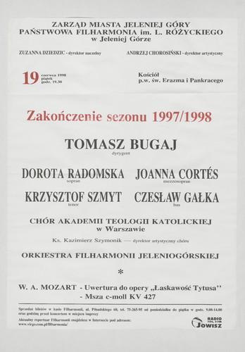 """Uwertura do opery """"Łaskawość Tytusa"""""""