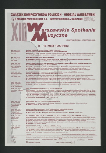 XIII Warszawskie Spotkania Muzyczne