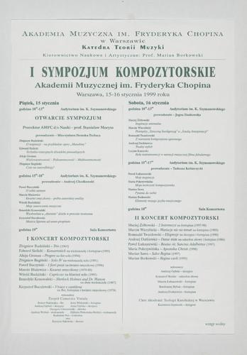 I Sympozjum Kompozytorskie