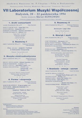 VII Laboratorium Muzyki Współczesnej